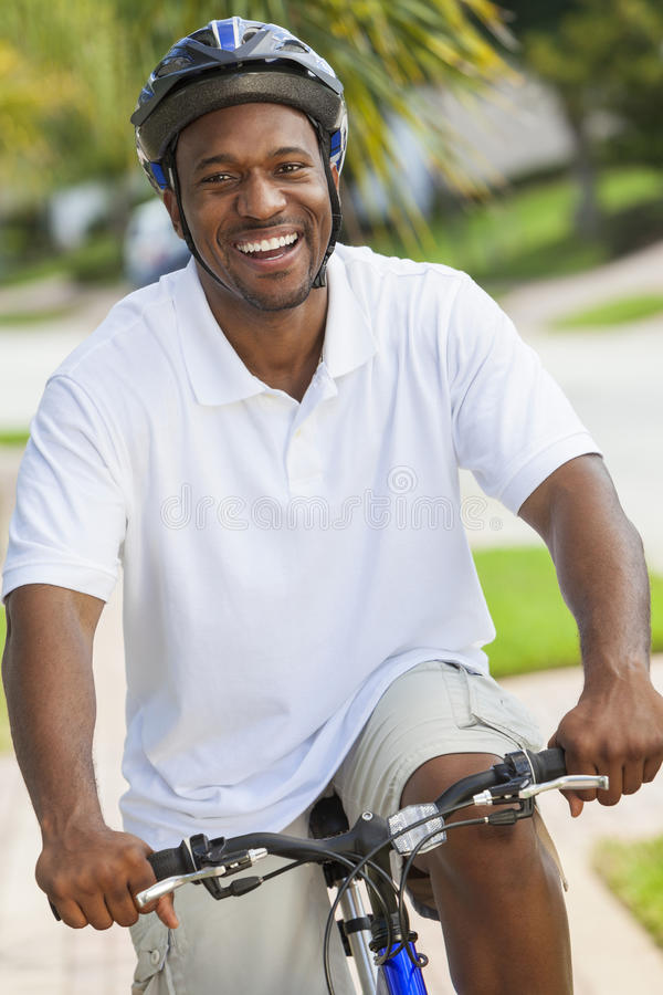 Download African American Man Riding Bicycle Stock Image - Image: 29032375
