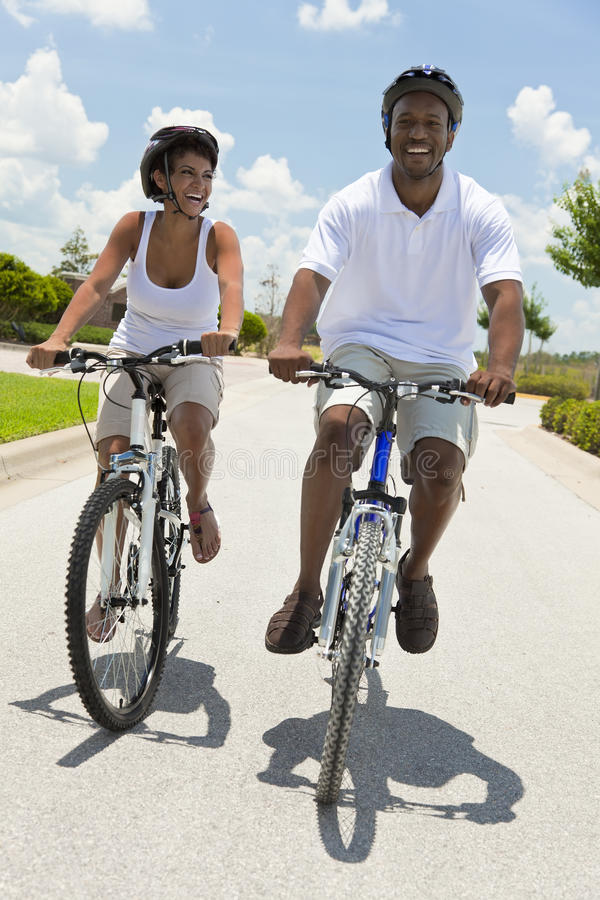 Download African American Man & Woman Couple Cycling Stock Images - Image: 20956974