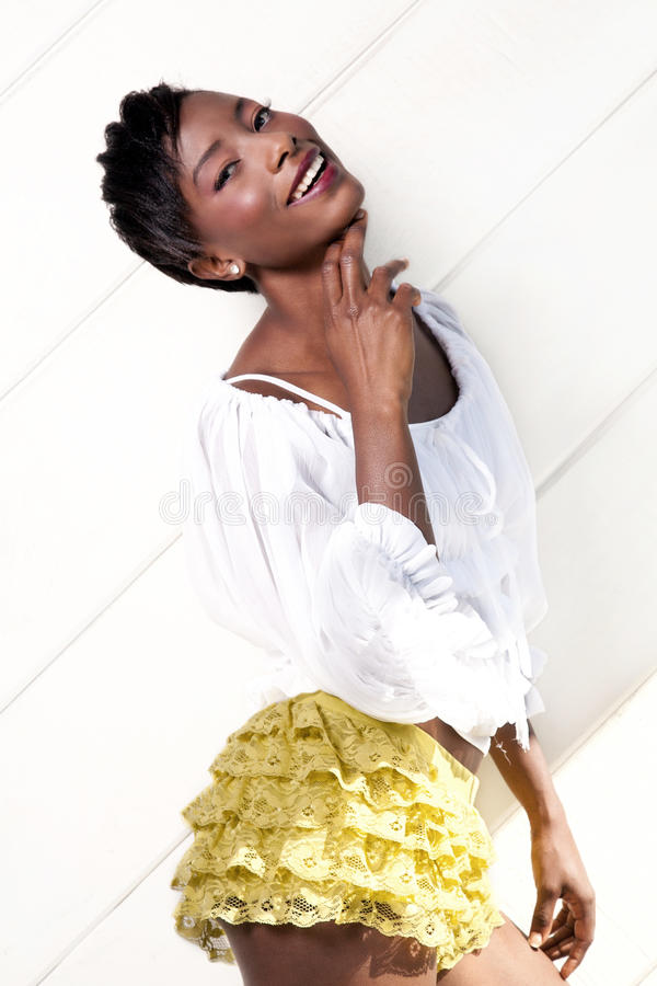 African American model posing royalty free stock image