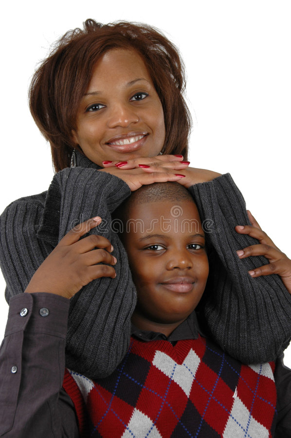 African american mother and so stock images