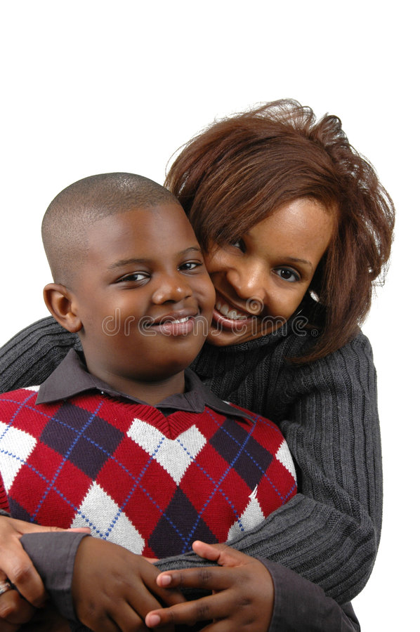 African american mother and so royalty free stock images