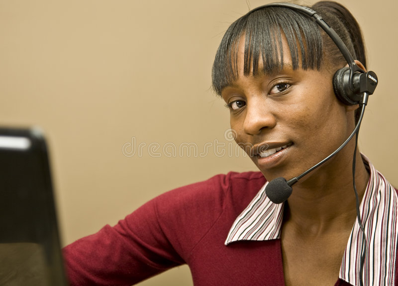 African American Office Worker royalty free stock photography