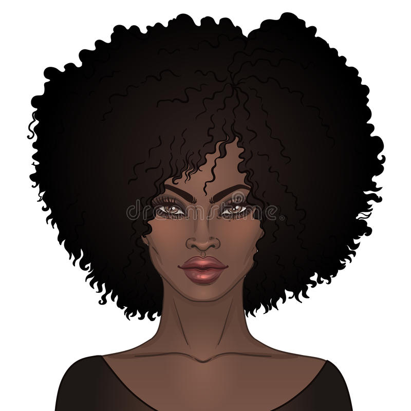 Free African American Pretty Girl. Vector Illustration Of Black Woman Royalty Free Stock Image - 93023146