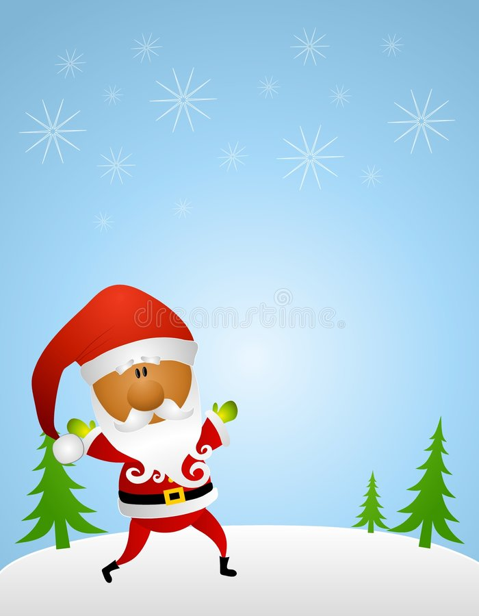 African American Santa Background Royalty Free Stock Photos