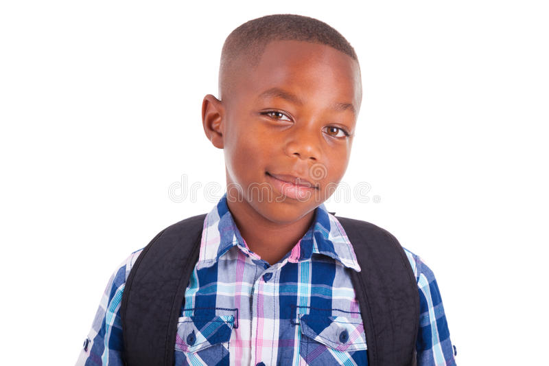 African American school boy - Black people royalty free stock photo
