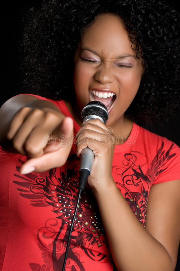 African American Singing Royalty Free Stock Photo