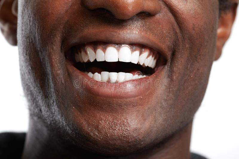 African American smile. stock photography