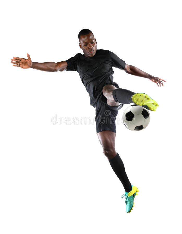 Download African American Soccer Player Stock Photo - Image: 91723536