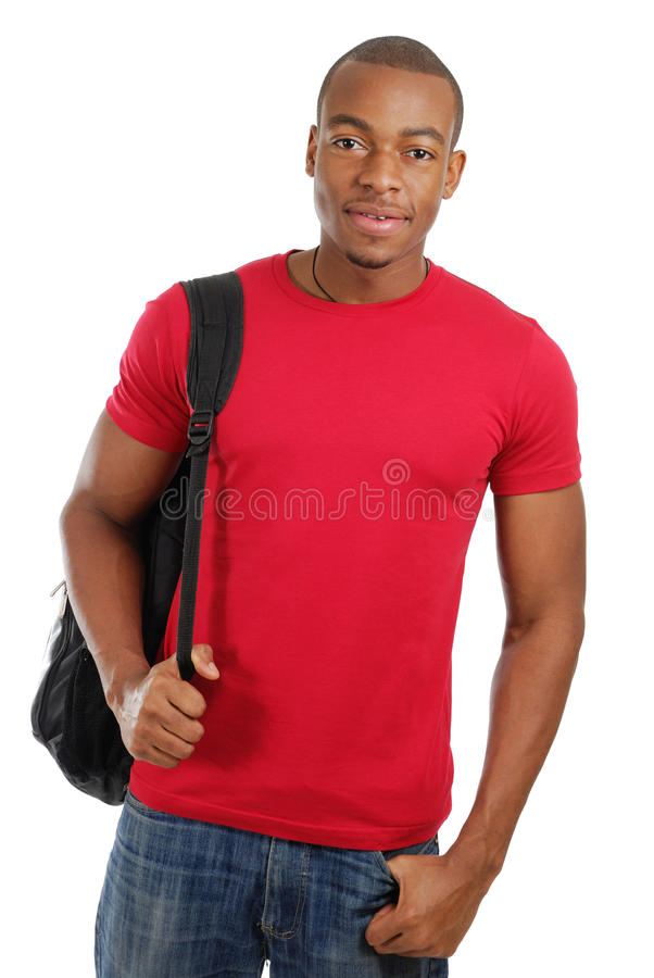 Download African American Student With Bag Royalty Free Stock Images - Image: 12837699