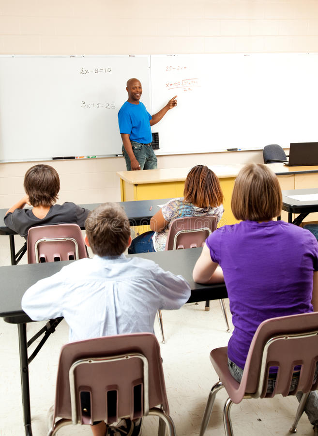 Download African-American Teacher And Class Stock Photo - Image of learning, blackboard: 25190968