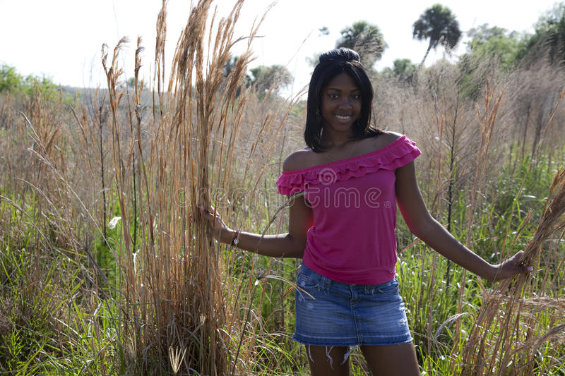 Download African American Teen In Nature Stock Photo - Image: 14823804