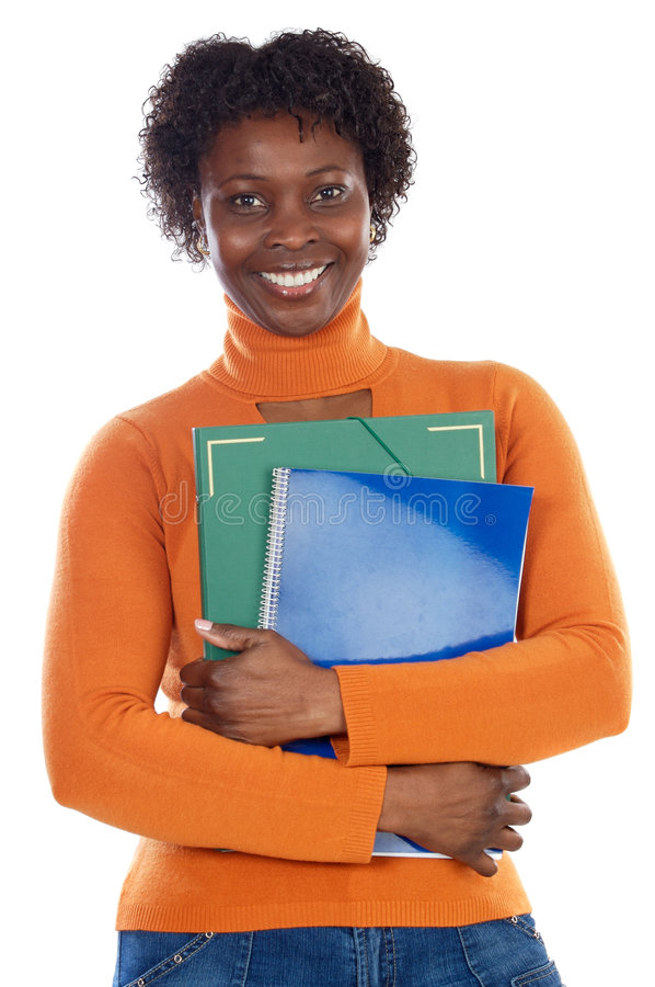 African-American university student royalty free stock photography