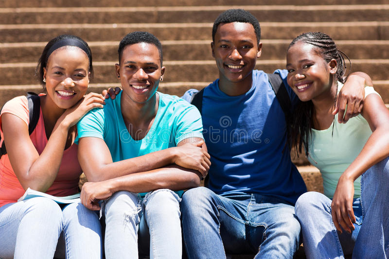 African american university students stock photography