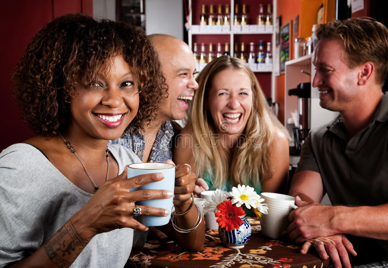 Download African American Woman With Friends Stock Image - Image of beverage, drink: 10617643