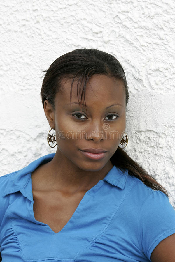 African American Woman Headshot Royalty Free Stock Images
