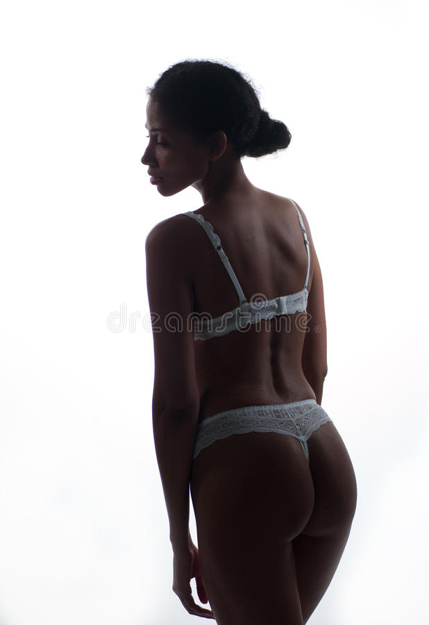 Download African American Woman In Lingerie Stock Image - Image: 38475743