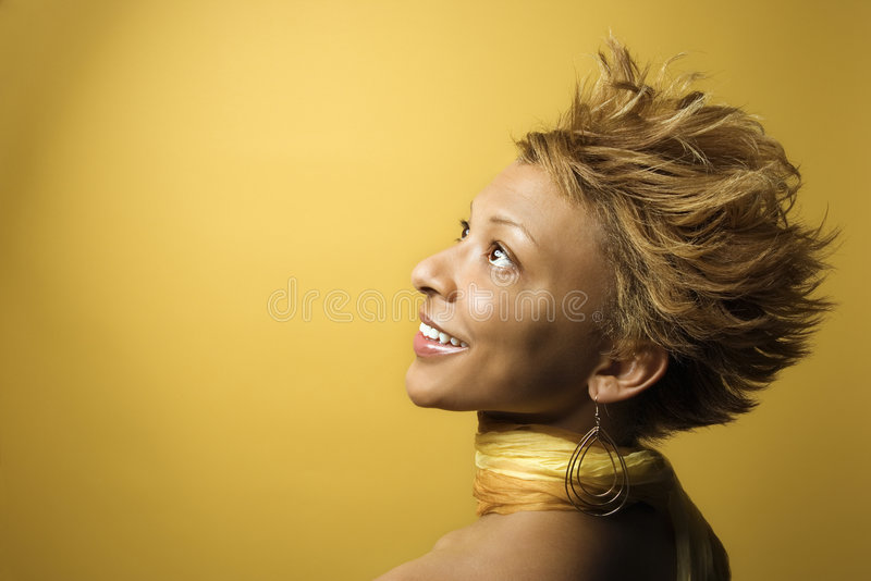 African-American woman portrait. royalty free stock photo