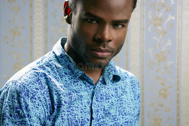 African american young handsome man portrait stock photo