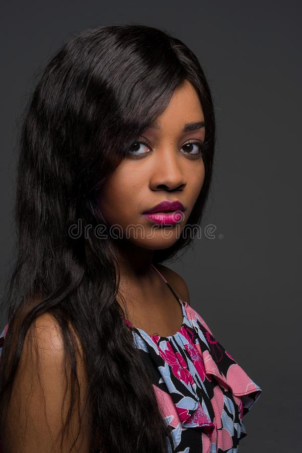 African American Young Woman royalty free stock photography