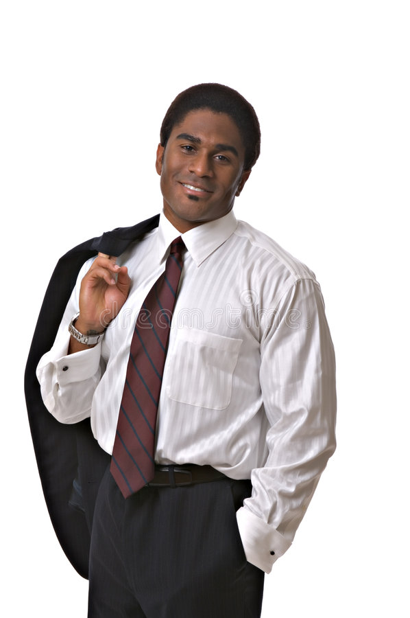 African-Americangeschäftsmann stockfotografie