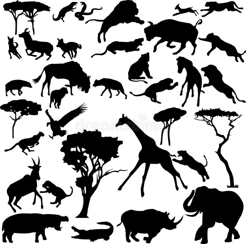 Download African animals stock vector. Illustration of antelope - 10222161