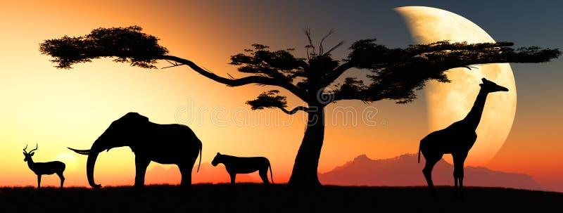 Download African animals stock illustration. Illustration of elephant - 17202895