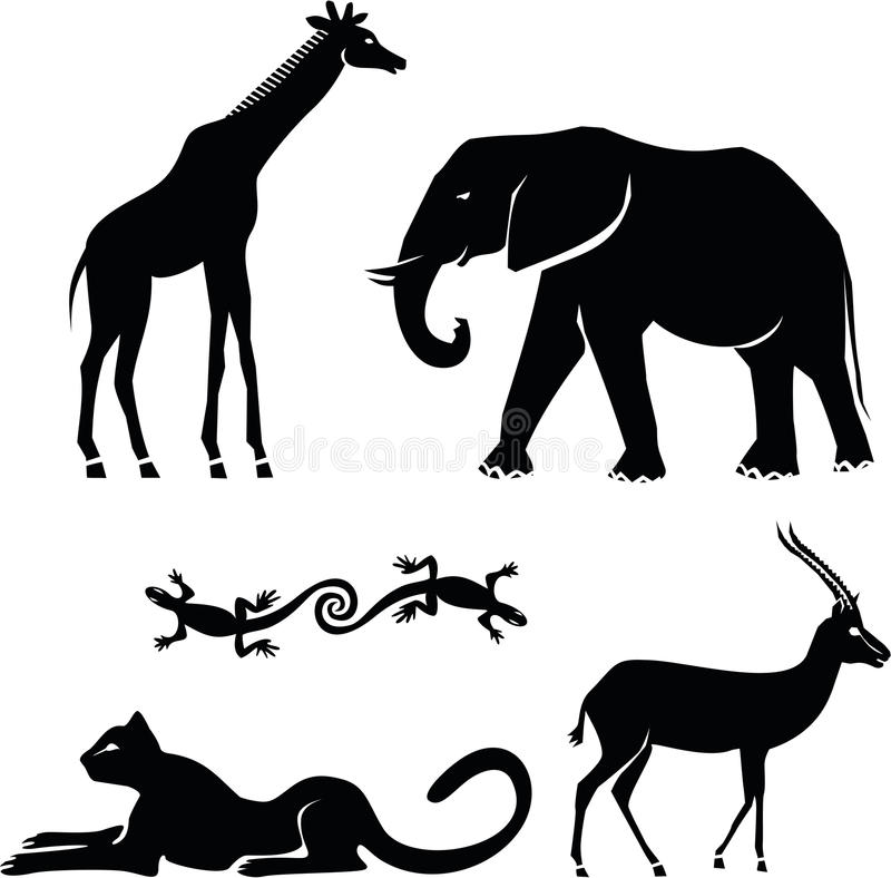Download African animals stock vector. Image of life, gepard, peak - 19743398