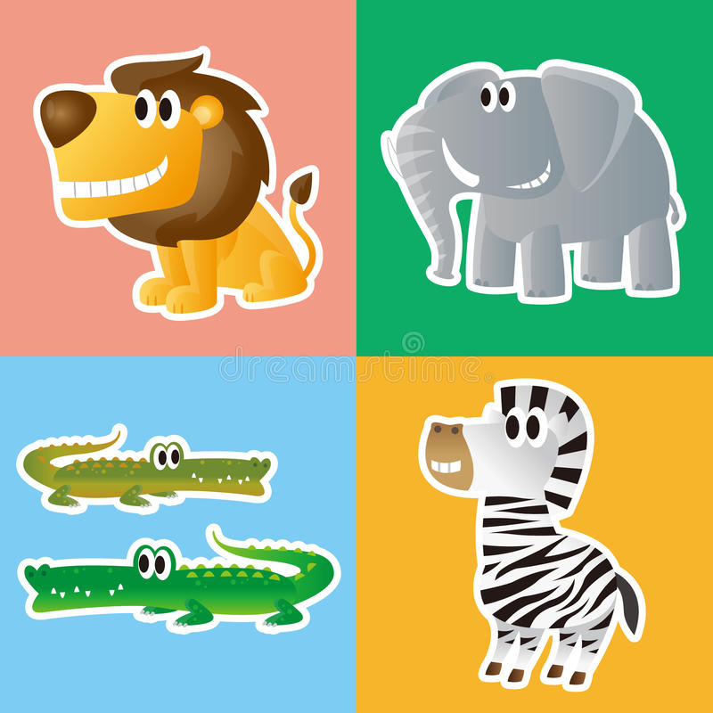 Download African animals stock vector. Image of elephant, cartoon - 31998870