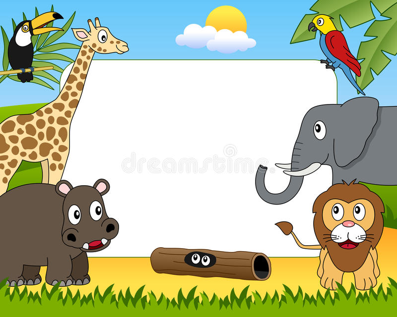 African Animals Photo Frame [1] stock illustration