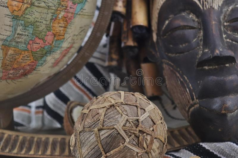 African artifacts and jewelry from Uganda and Nigeria royalty free stock photography