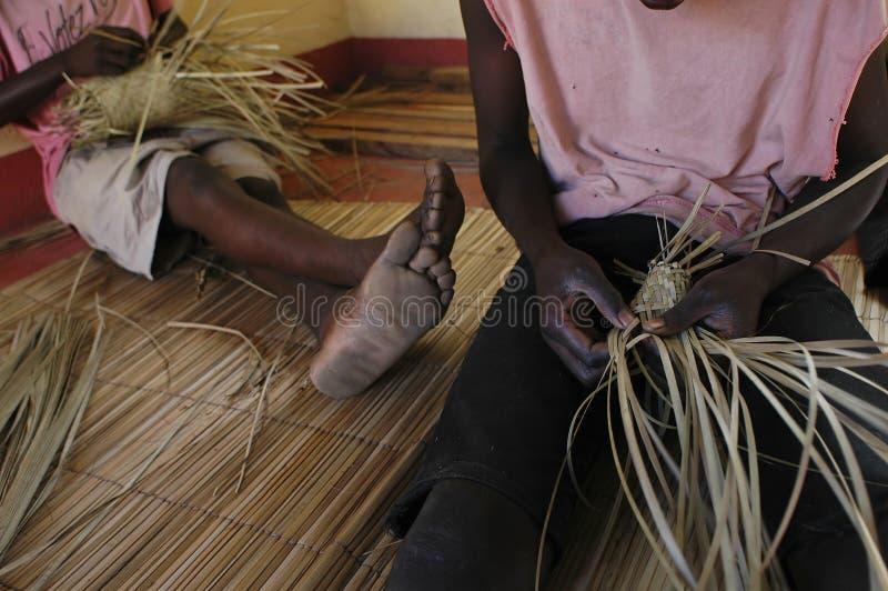 Download African artisan stock image. Image of barefoot, interlacement - 24838843