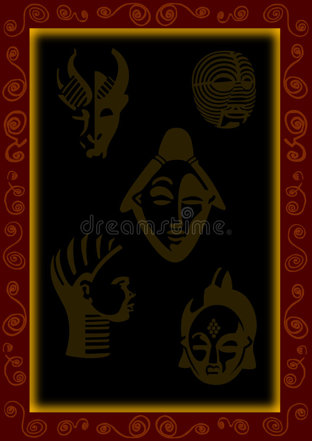 Download African background stock vector. Image of wallpaper, mask - 6221727