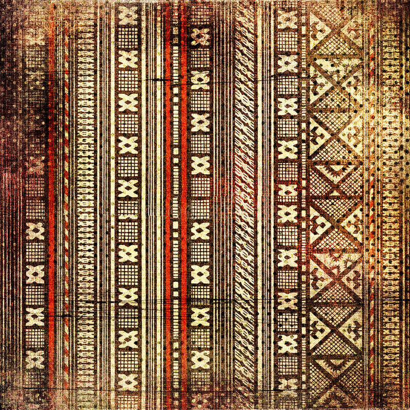 African background. Vintage background with african ornament stock photos