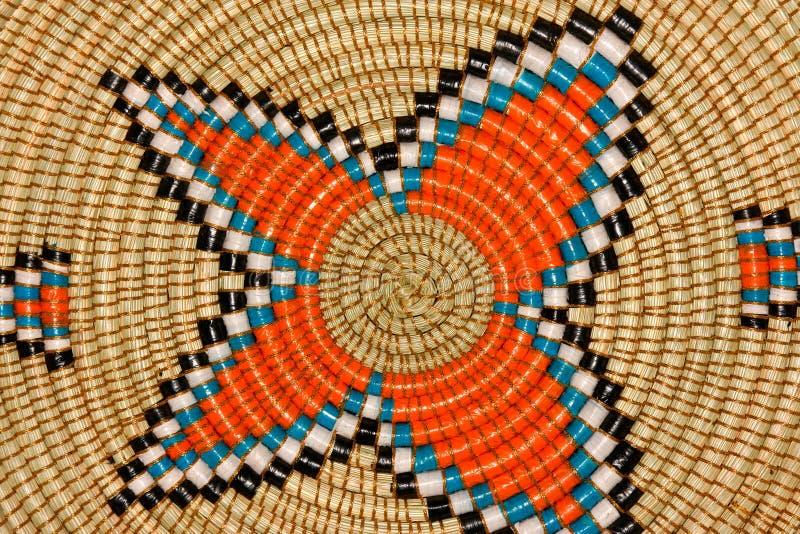African basket stock image