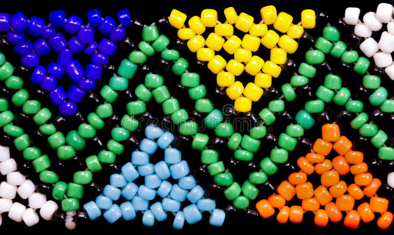 African bead work stock images