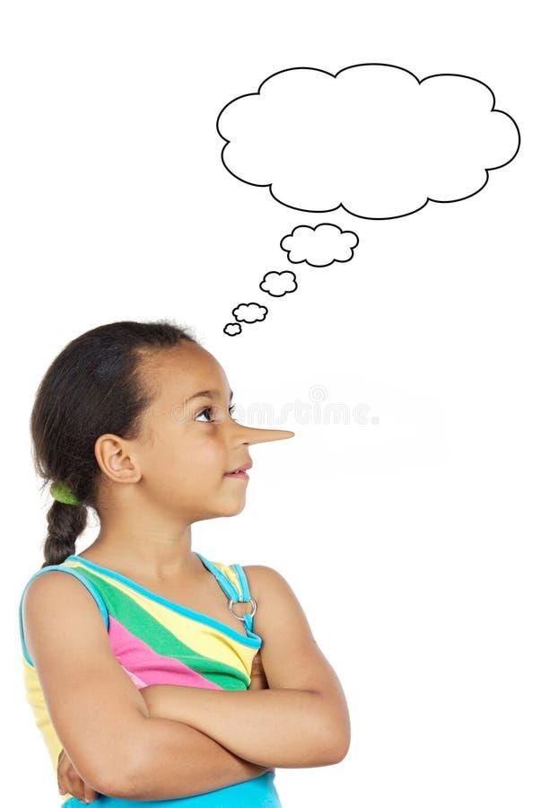 African beautiful girl thinking lies stock photos