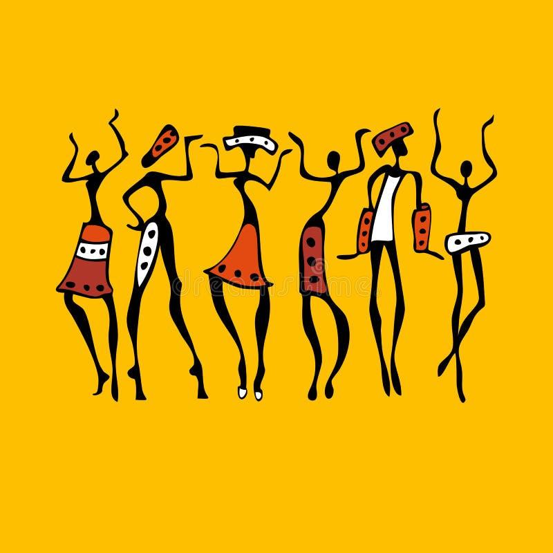 African Beautiful Women stock illustration