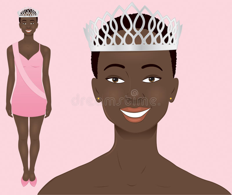 African Beauty Queen royalty free illustration