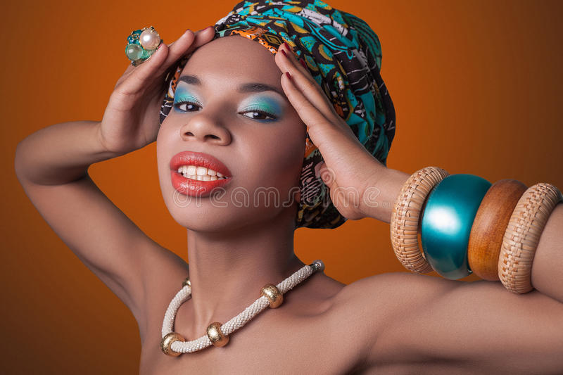 African beauty. royalty free stock image