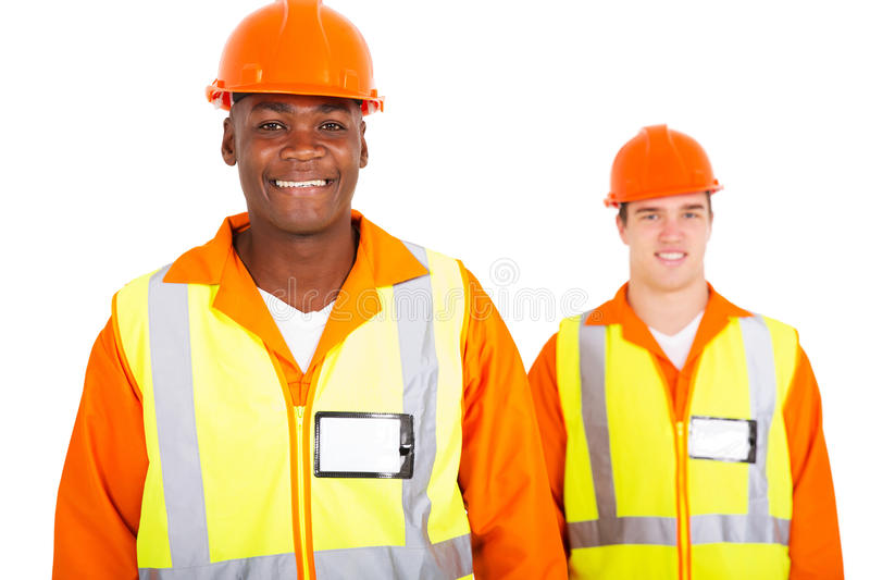 African blue collar worker stock photography