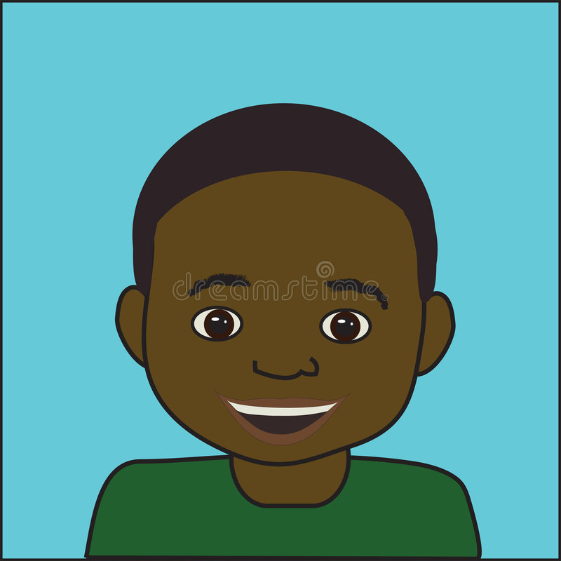 African Boy stock illustration