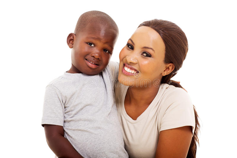 African boy mother stock images