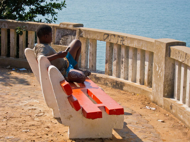 Download African boy relaxing editorial image. Image of undeveloped - 21303980