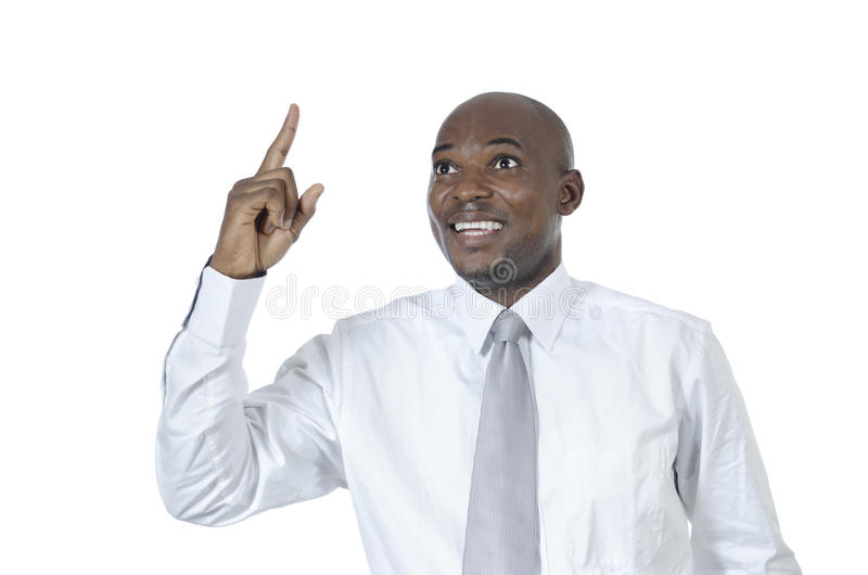 African business man has idea. Studio Shot royalty free stock image