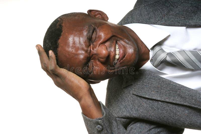 African Business Man Headache stock photo