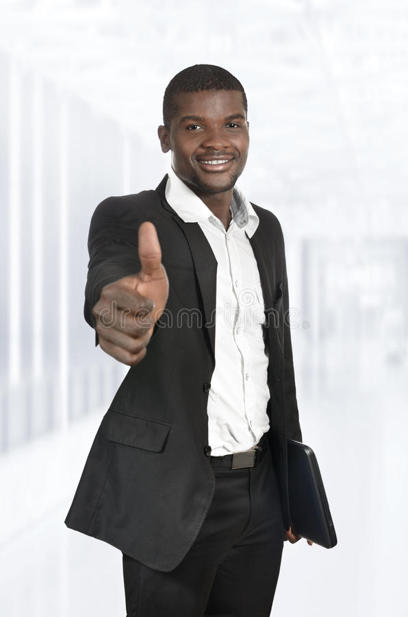 African Business Man / Student Thumb Up royalty free stock image