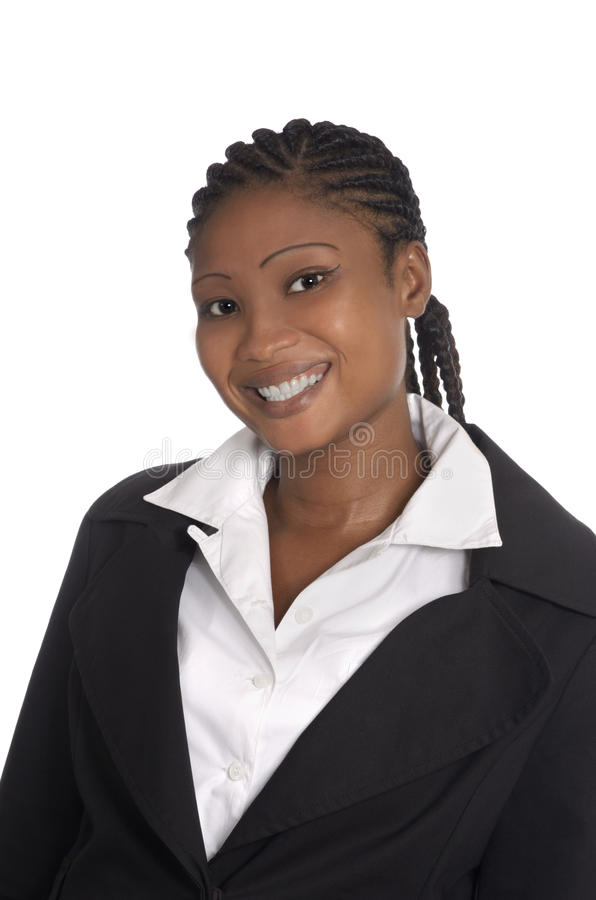 African business woman isolated royalty free stock photography