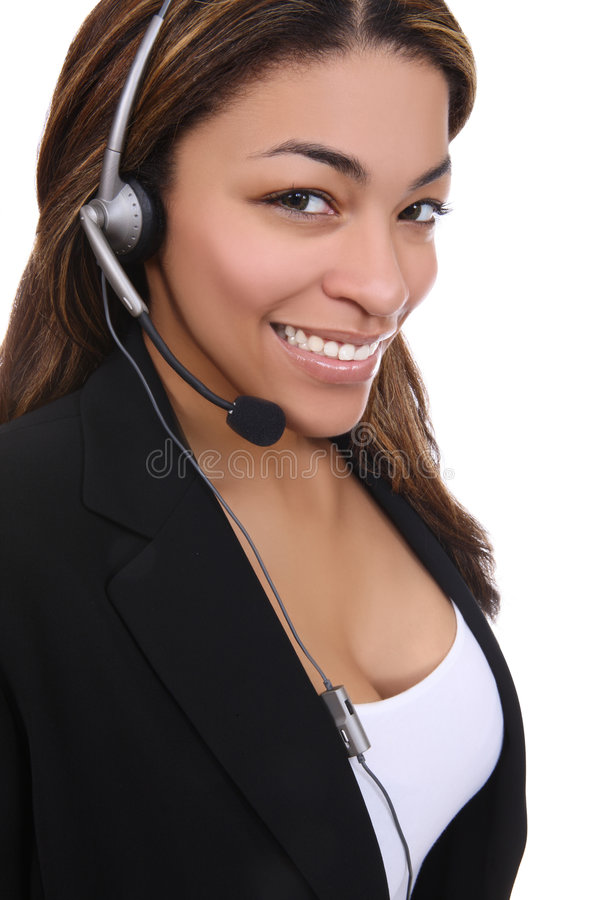 African Business Woman on the Phone stock photography