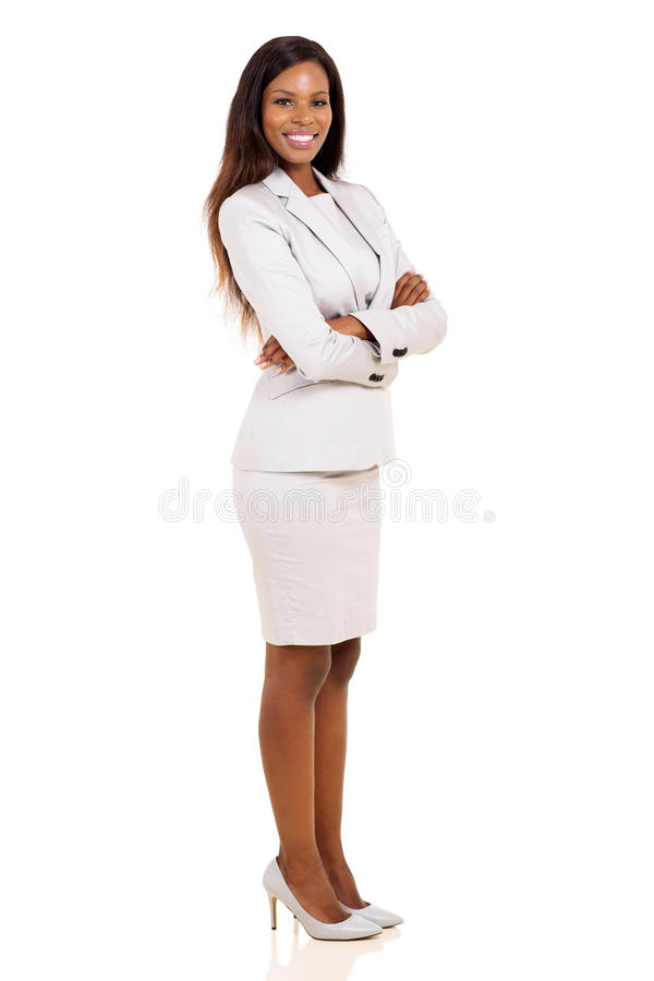 African business woman. Portrait of african business woman with arms folded stock photography