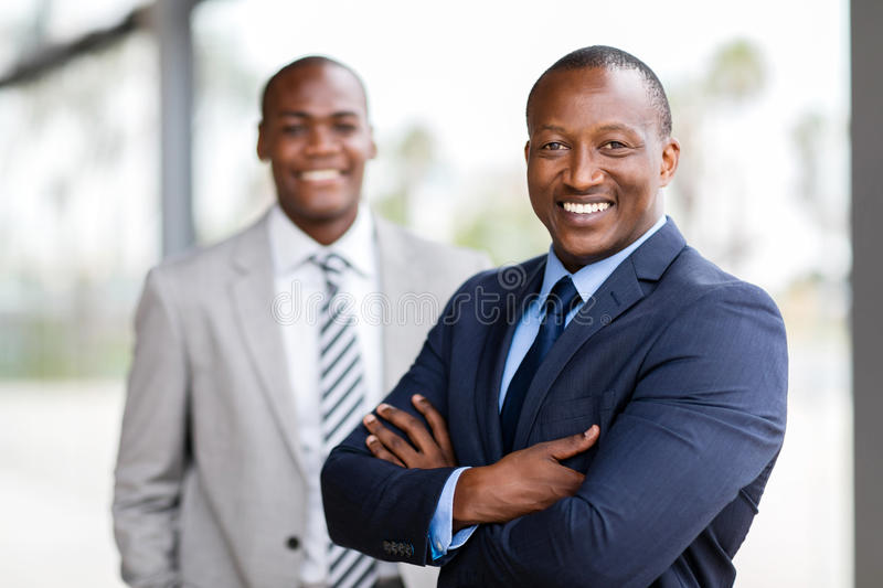 African businessman colleague stock image